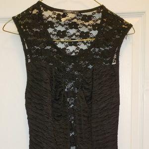 Black & lace cocktail dress